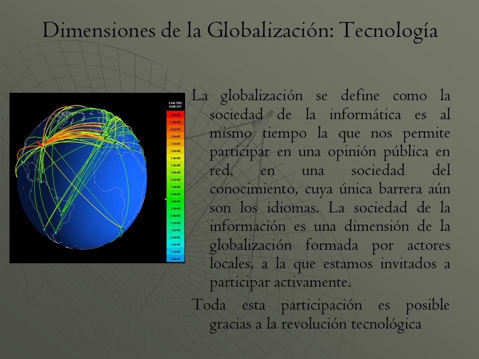 Dimensiones de la Globalización: Tecnología