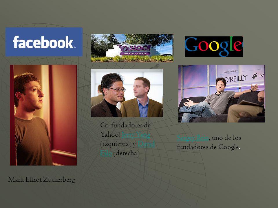 Co-fundadores de Yahoo! Jerry Yang (izquierda) y David Filo (derecha)