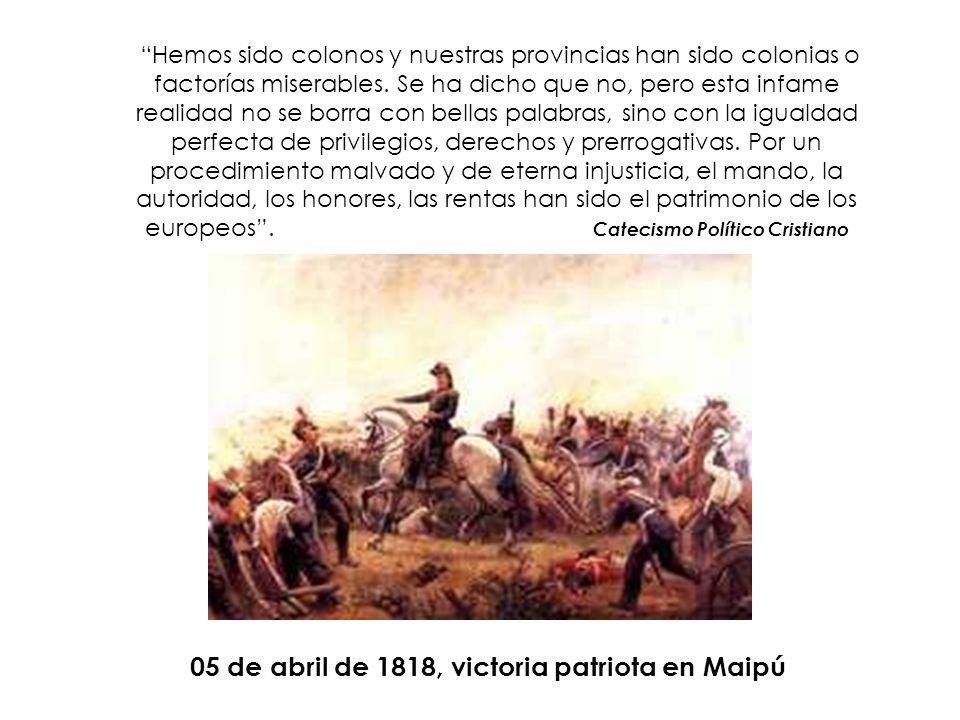 05 de abril de 1818, victoria patriota en Maipú