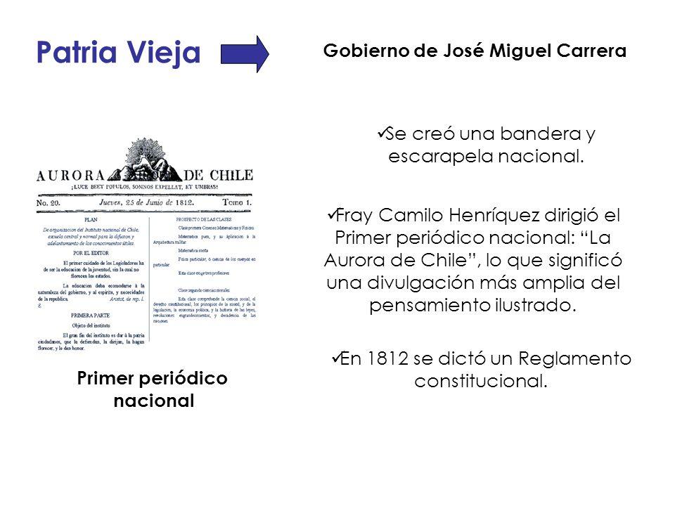 En 1812 se dictó un Reglamento constitucional.