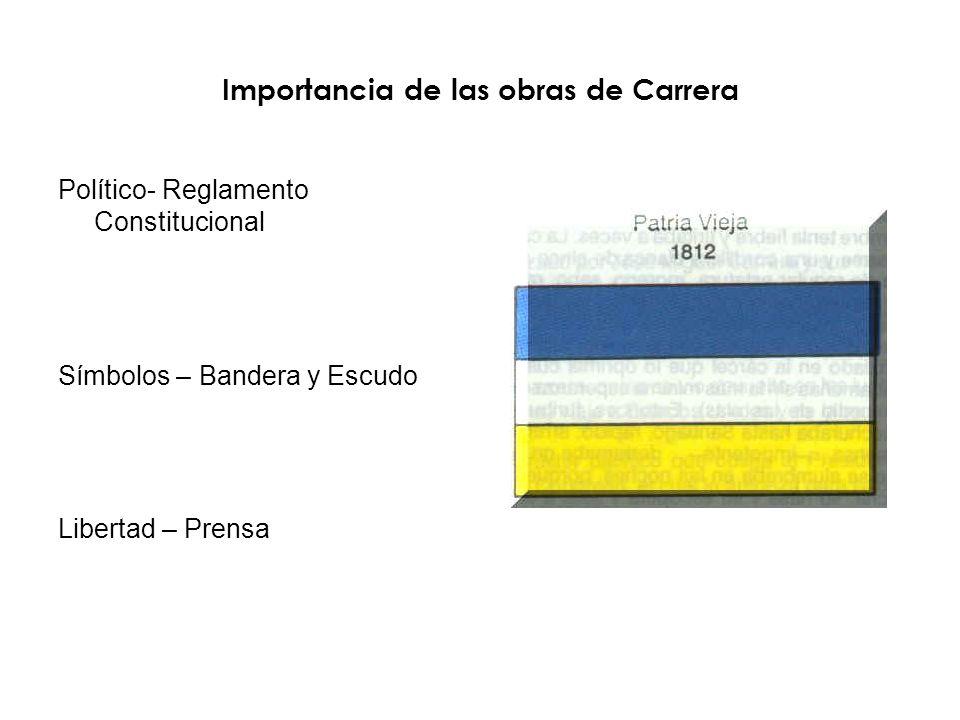 Importancia de las obras de Carrera