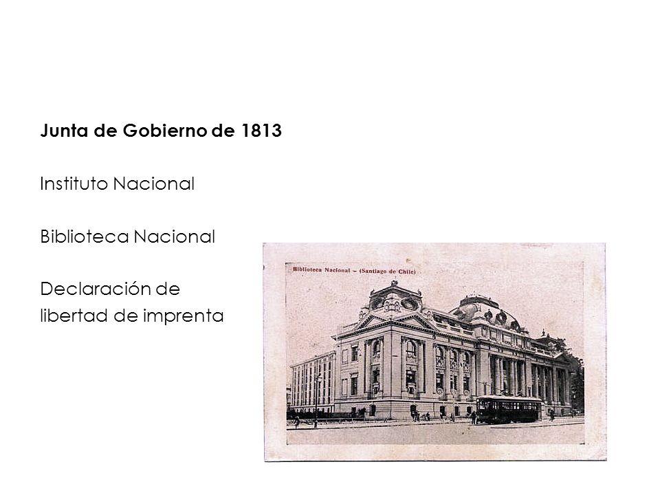 Junta de Gobierno de 1813 Instituto Nacional. Biblioteca Nacional.