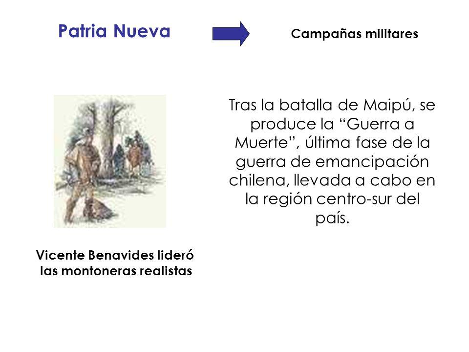 Vicente Benavides lideró las montoneras realistas