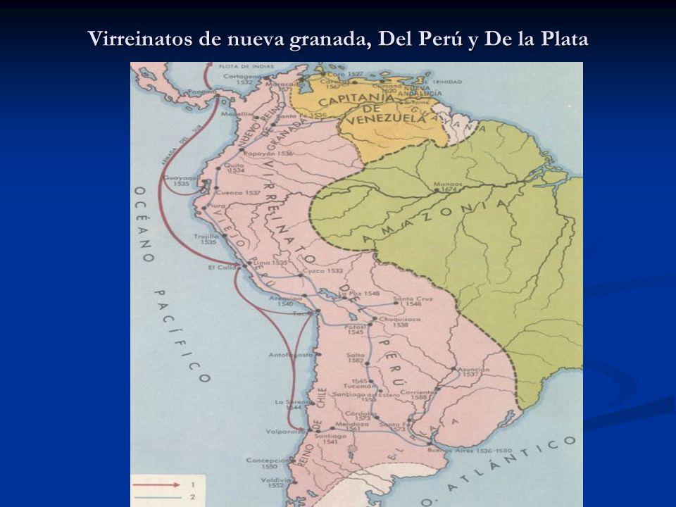 Virreinatos de nueva granada, Del Perú y De la Plata