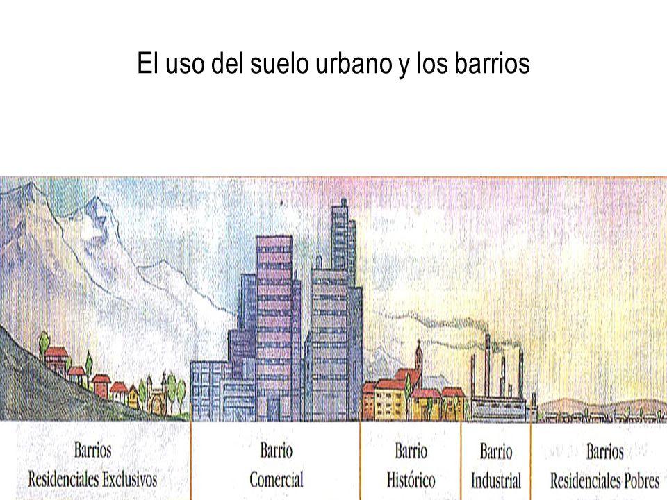 El uso del suelo urbano y los barrios