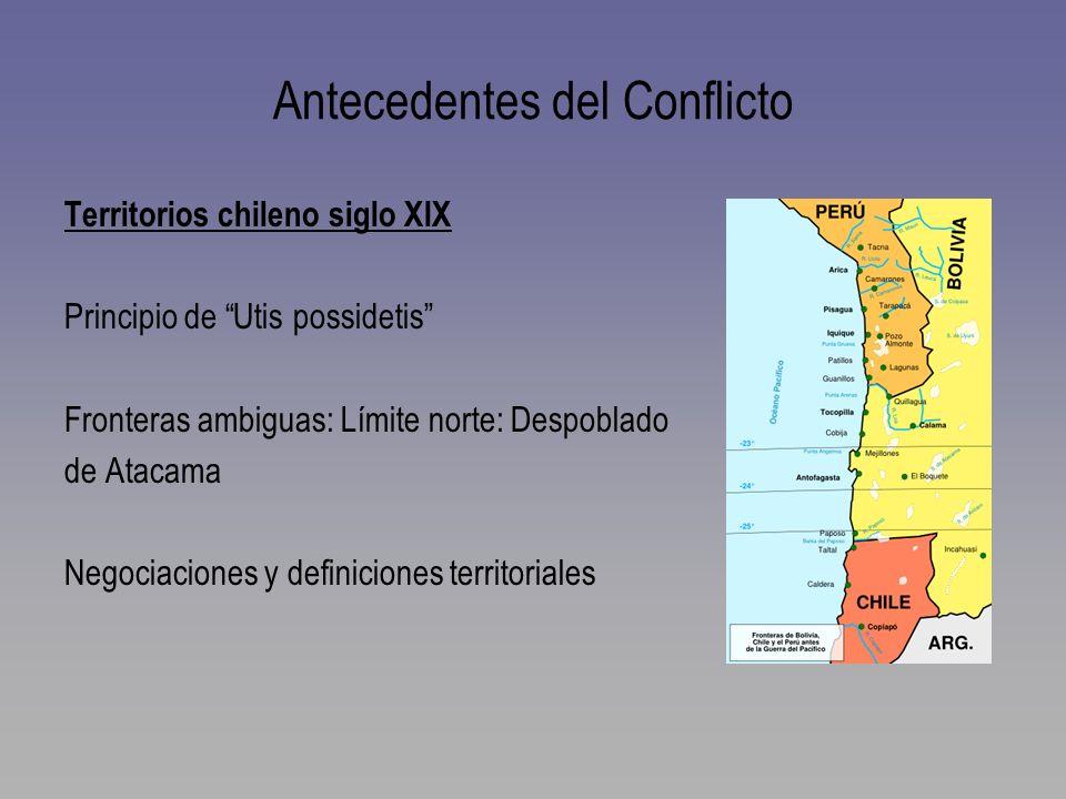 Antecedentes del Conflicto