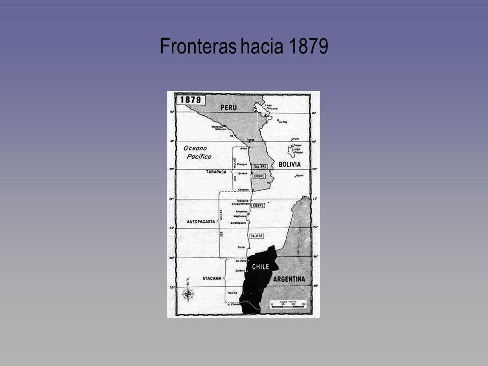 Fronteras hacia 1879