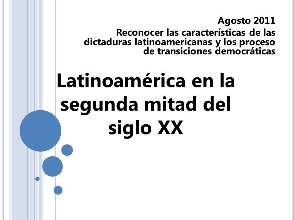 Latinoamérica en la segunda mitad del siglo XX