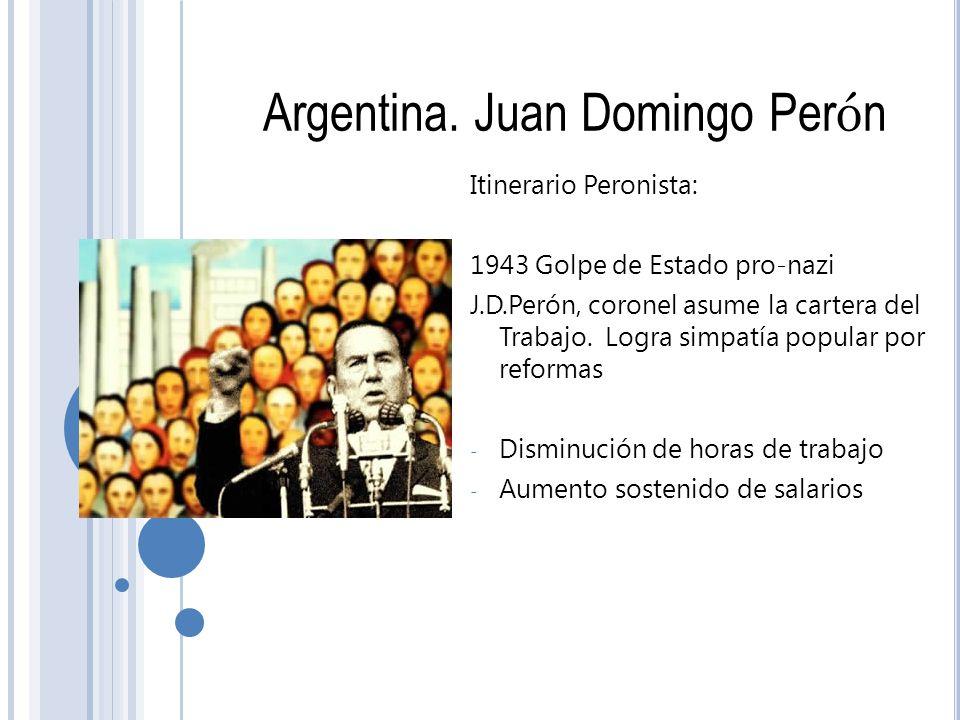 Argentina. Juan Domingo Perón