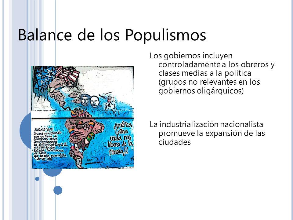 Balance de los Populismos