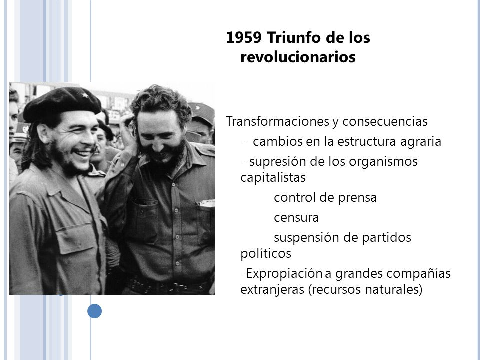 1959 Triunfo de los revolucionarios