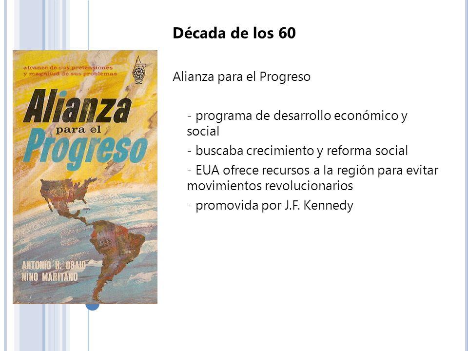 Década de los 60 Alianza para el Progreso
