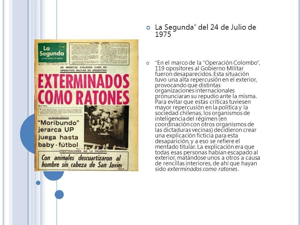 La Segunda del 24 de Julio de 1975