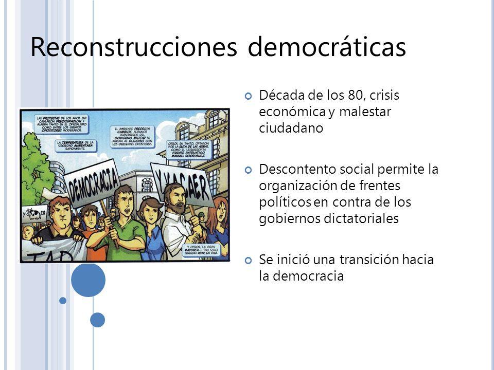 Reconstrucciones democráticas