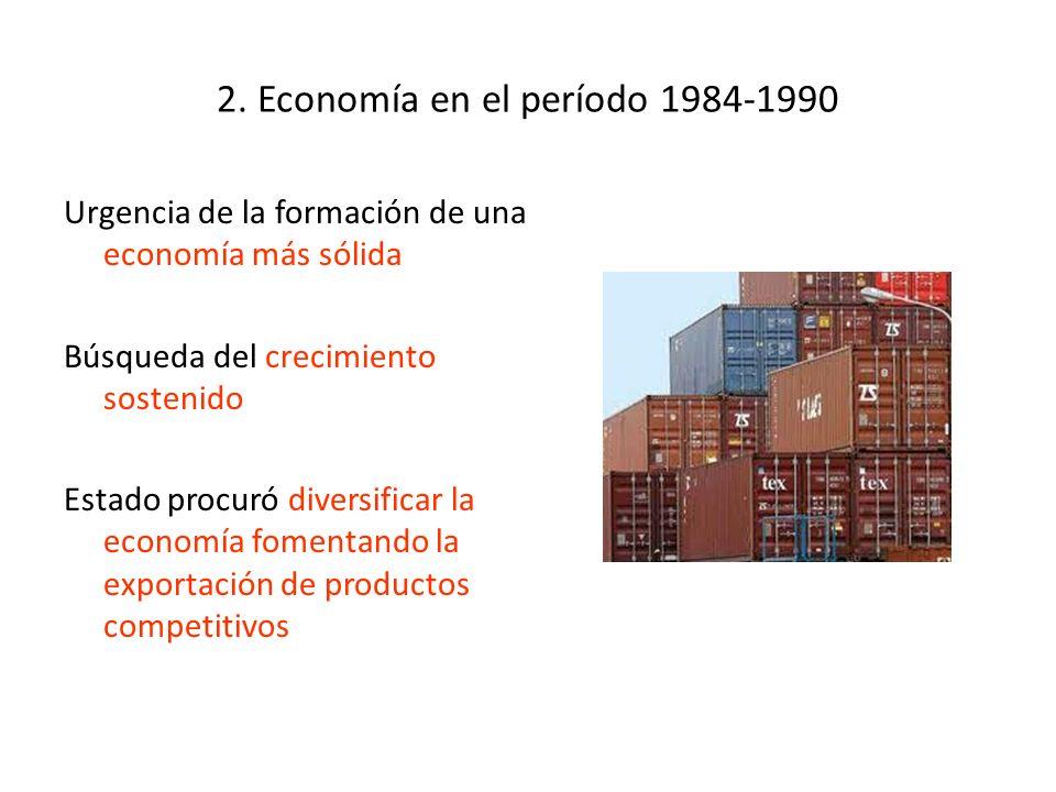 2. Economía en el período 1984-1990