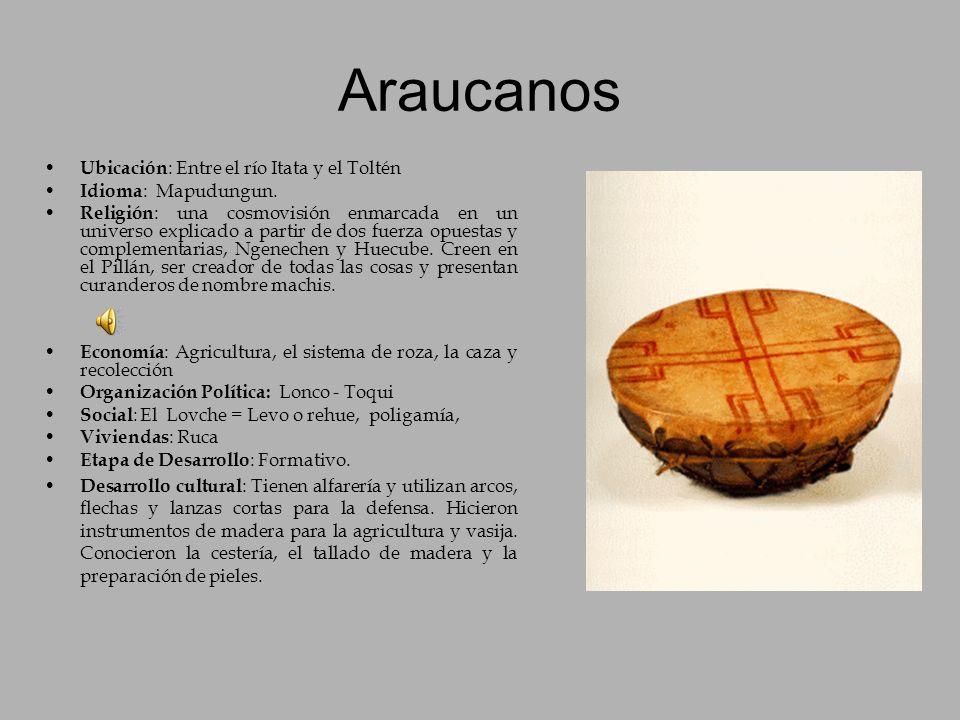 Araucanos Ubicación: Entre el río Itata y el Toltén