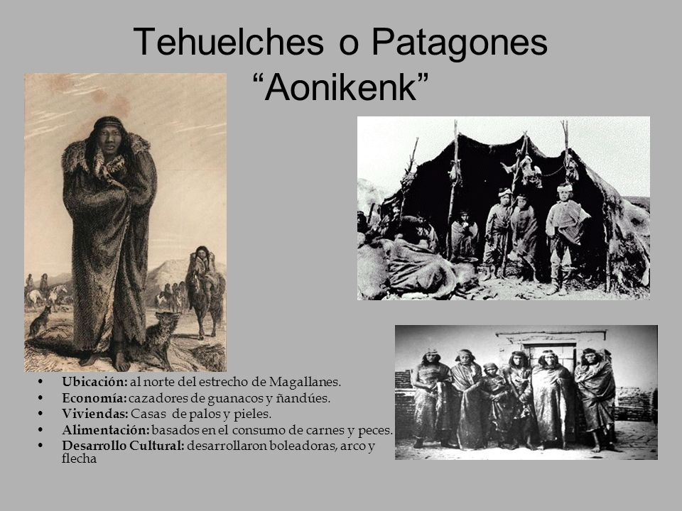 Tehuelches o Patagones Aonikenk