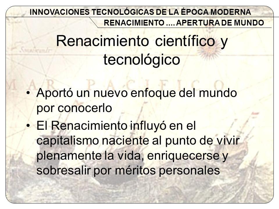 Renacimiento científico y tecnológico
