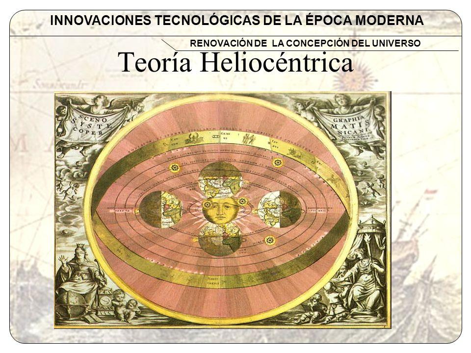 Teoría Heliocéntrica INNOVACIONES TECNOLÓGICAS DE LA ÉPOCA MODERNA