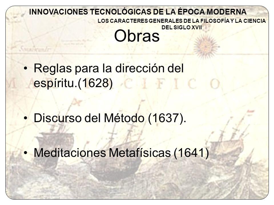 Obras Reglas para la dirección del espíritu.(1628)