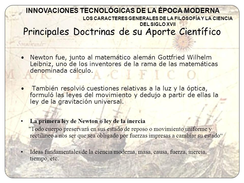 Principales Doctrinas de su Aporte Científico