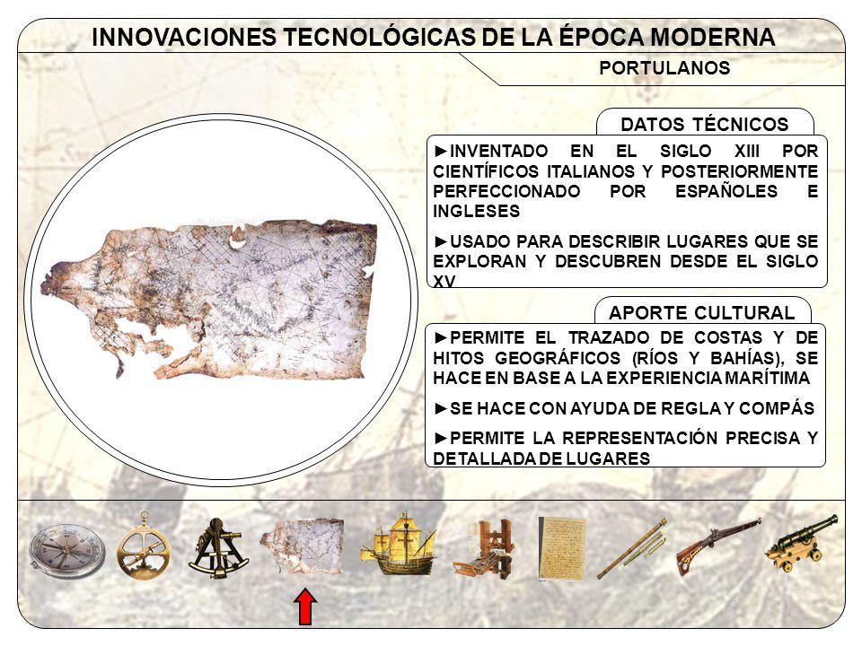 INNOVACIONES TECNOLÓGICAS DE LA ÉPOCA MODERNA