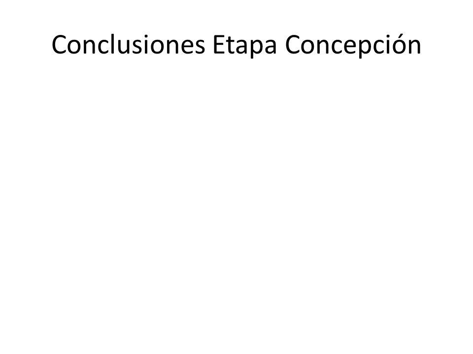 Conclusiones Etapa Concepción