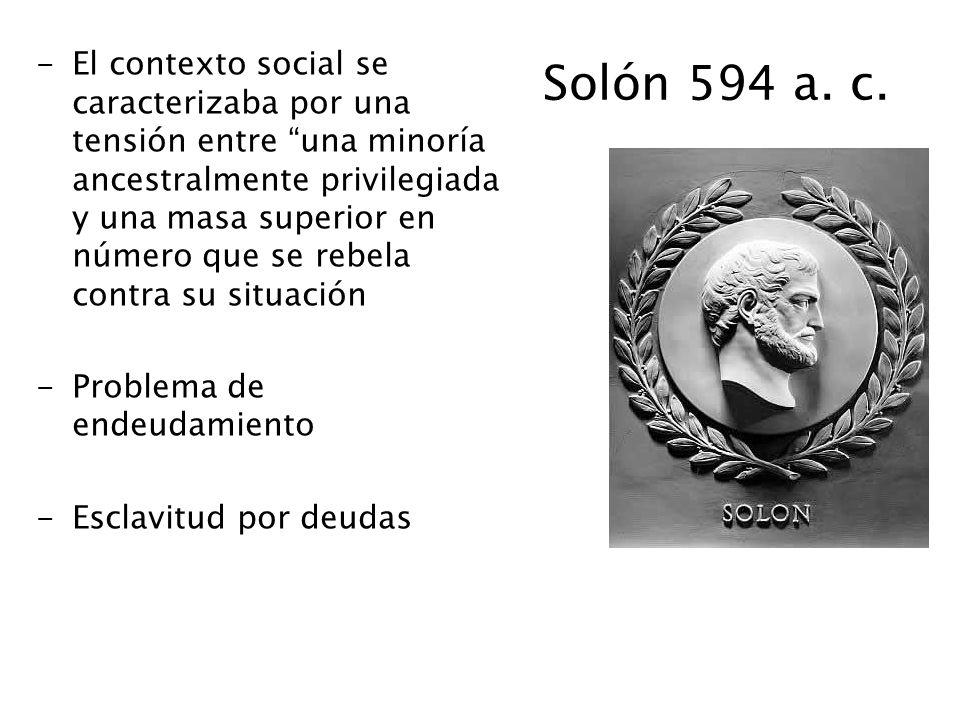 Solón 594 a. c.