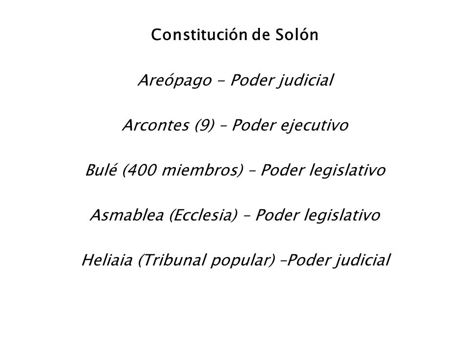 Areópago - Poder judicial Arcontes (9) – Poder ejecutivo