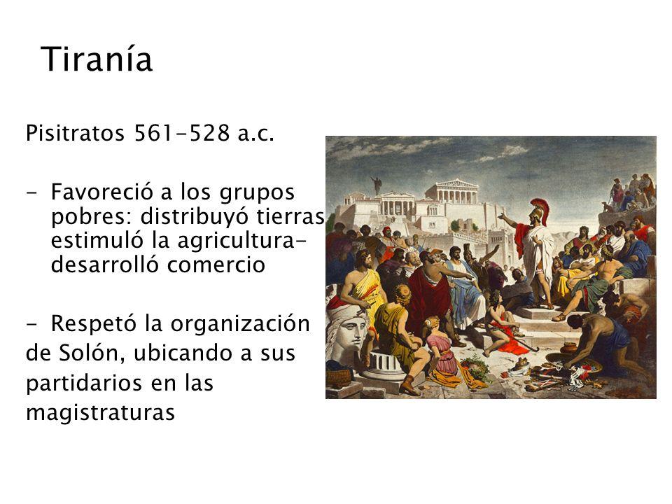 Tiranía Pisitratos 561-528 a.c.