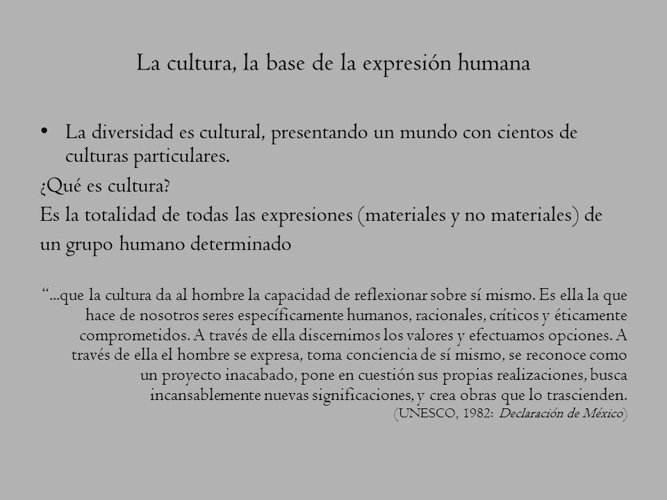 La cultura, la base de la expresión humana