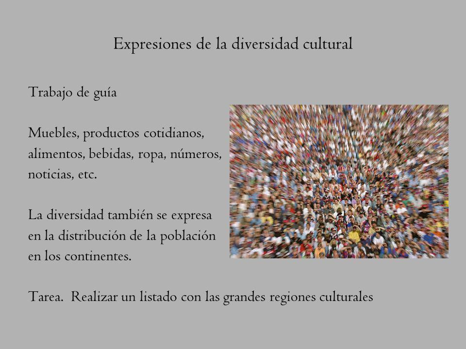 Expresiones de la diversidad cultural