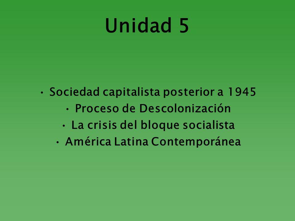 Unidad 5 Sociedad capitalista posterior a 1945
