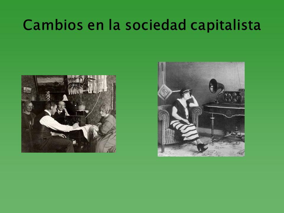 Cambios en la sociedad capitalista