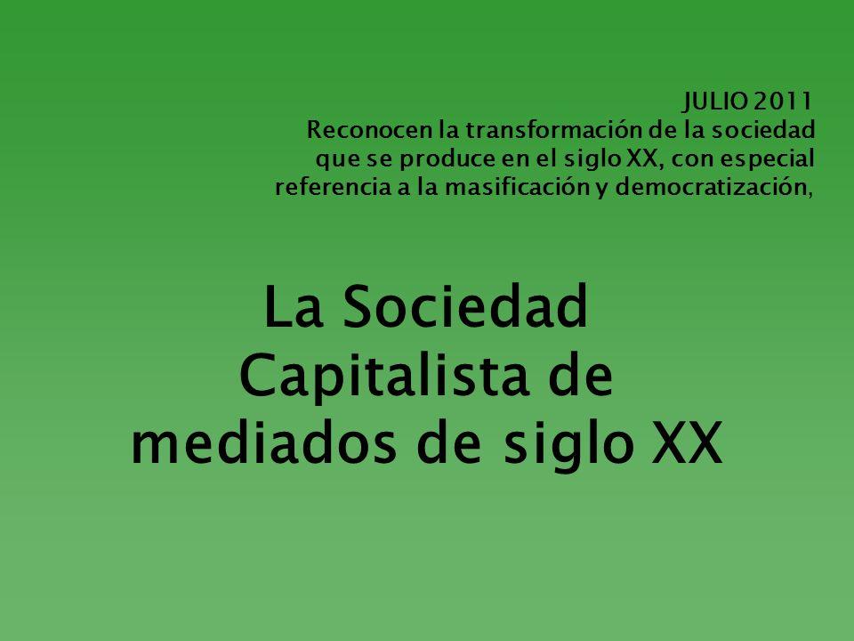 La Sociedad Capitalista de mediados de siglo XX