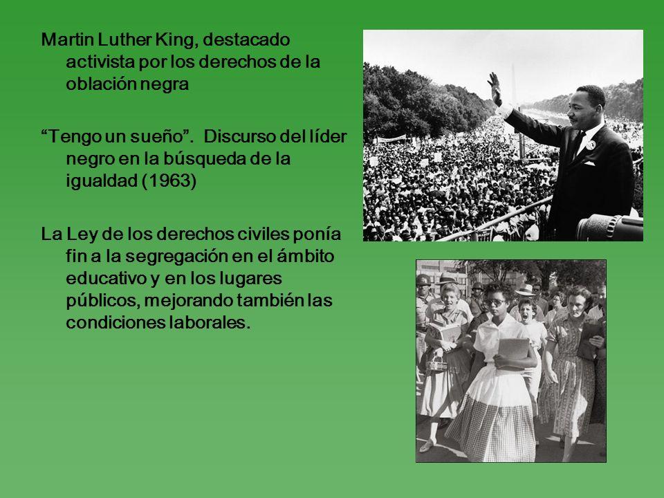Martin Luther King, destacado activista por los derechos de la oblación negra