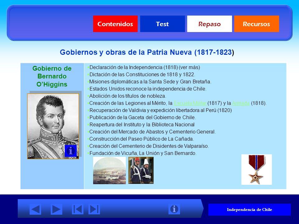 Gobiernos y obras de la Patria Nueva (1817-1823)