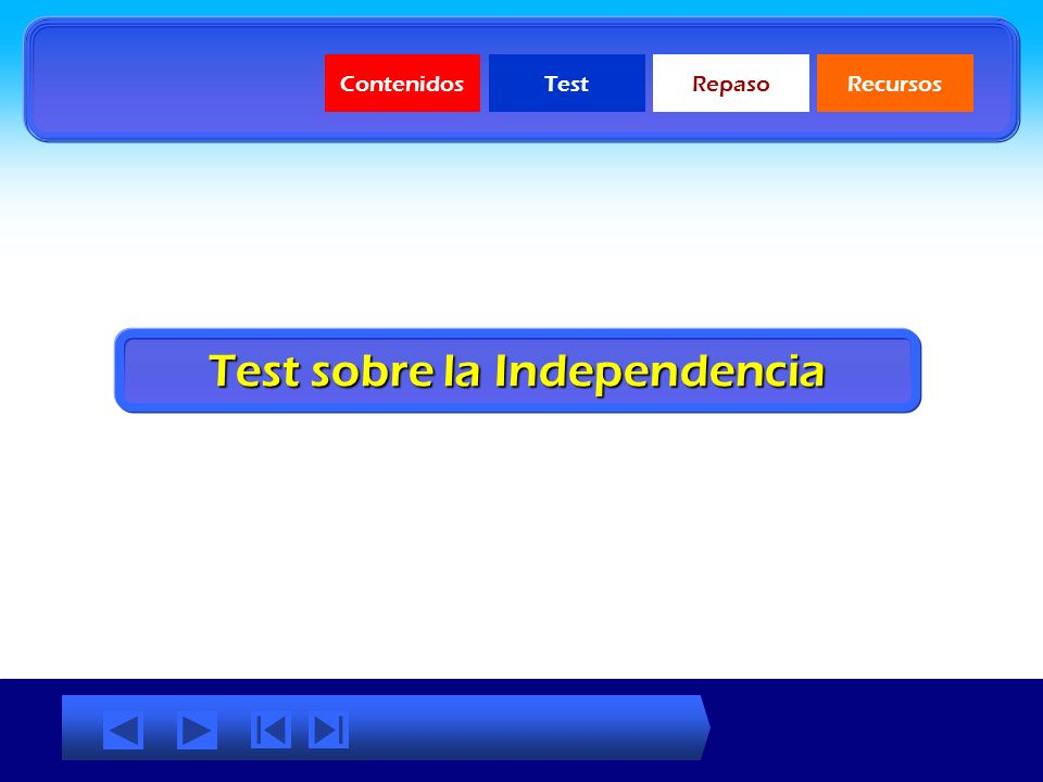 Test sobre la Independencia