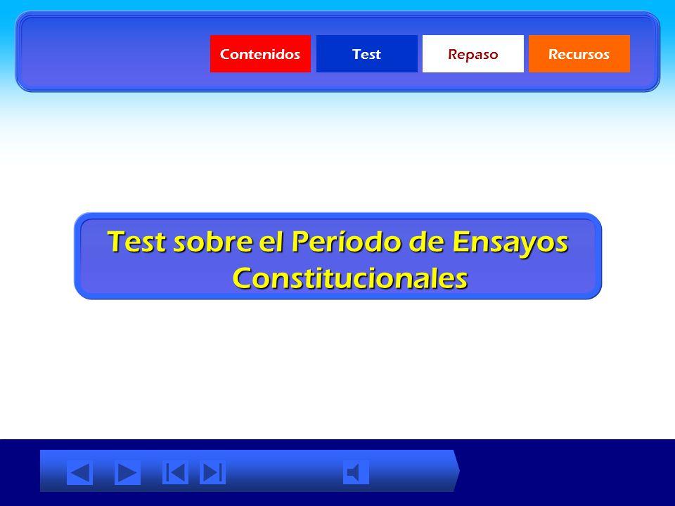 Test sobre el Período de Ensayos Constitucionales
