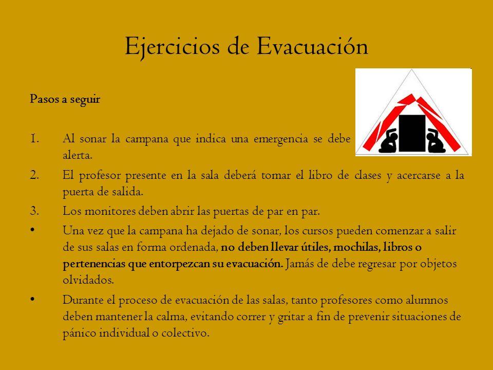 Ejercicios de Evacuación
