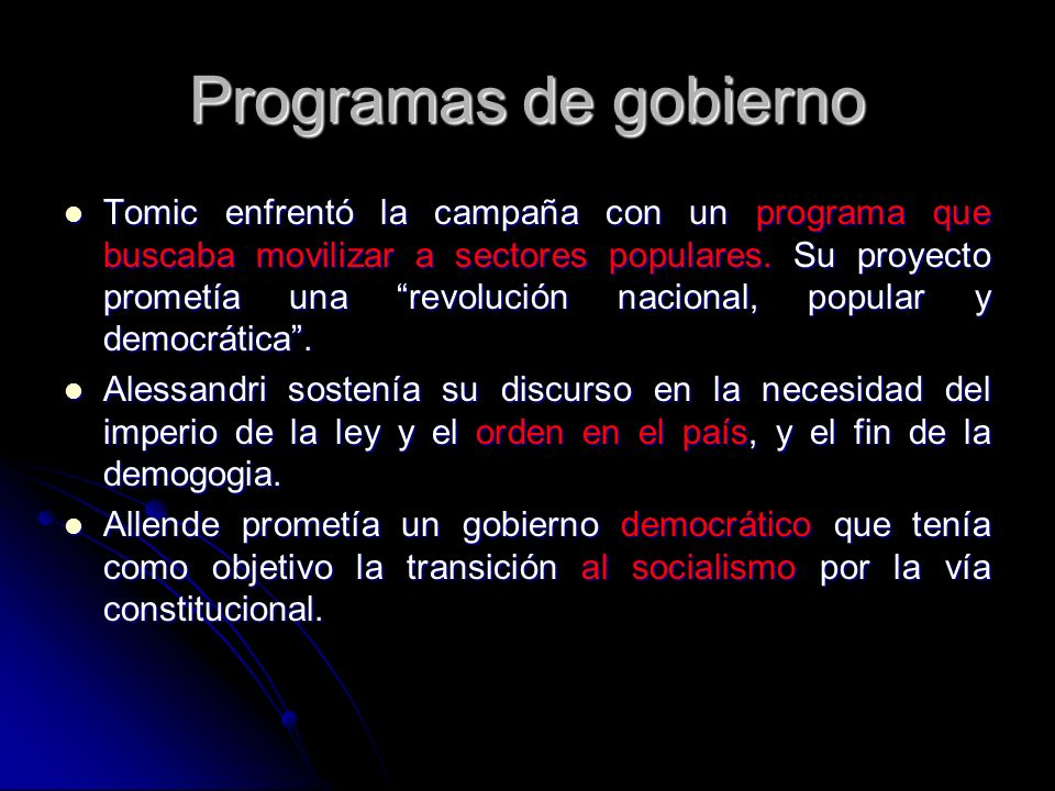 Programas de gobierno