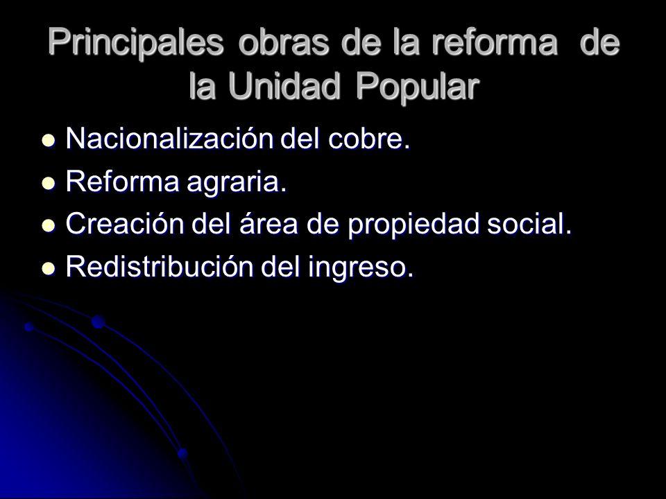 Principales obras de la reforma de la Unidad Popular