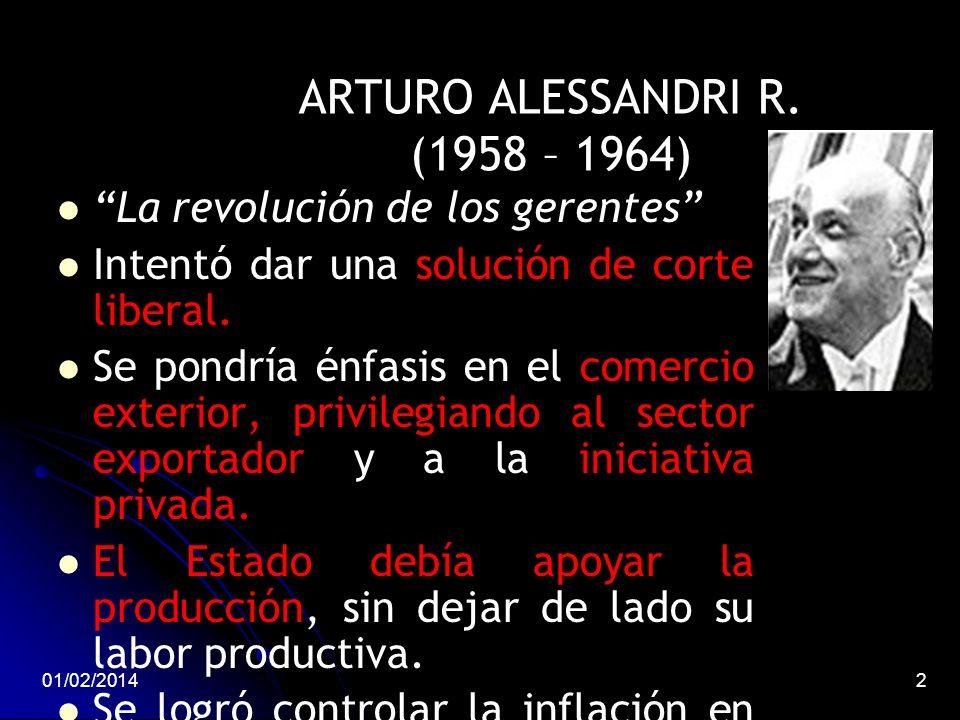 ARTURO ALESSANDRI R. (1958 – 1964)