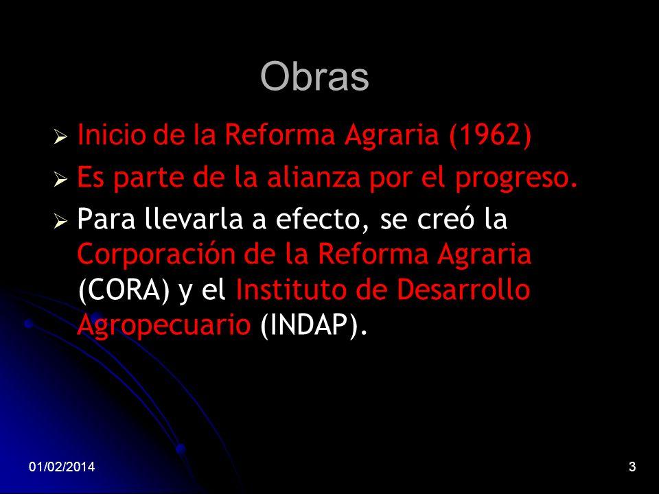 Obras Inicio de la Reforma Agraria (1962)