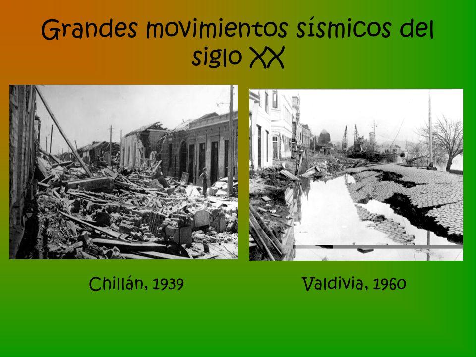 Grandes movimientos sísmicos del siglo XX