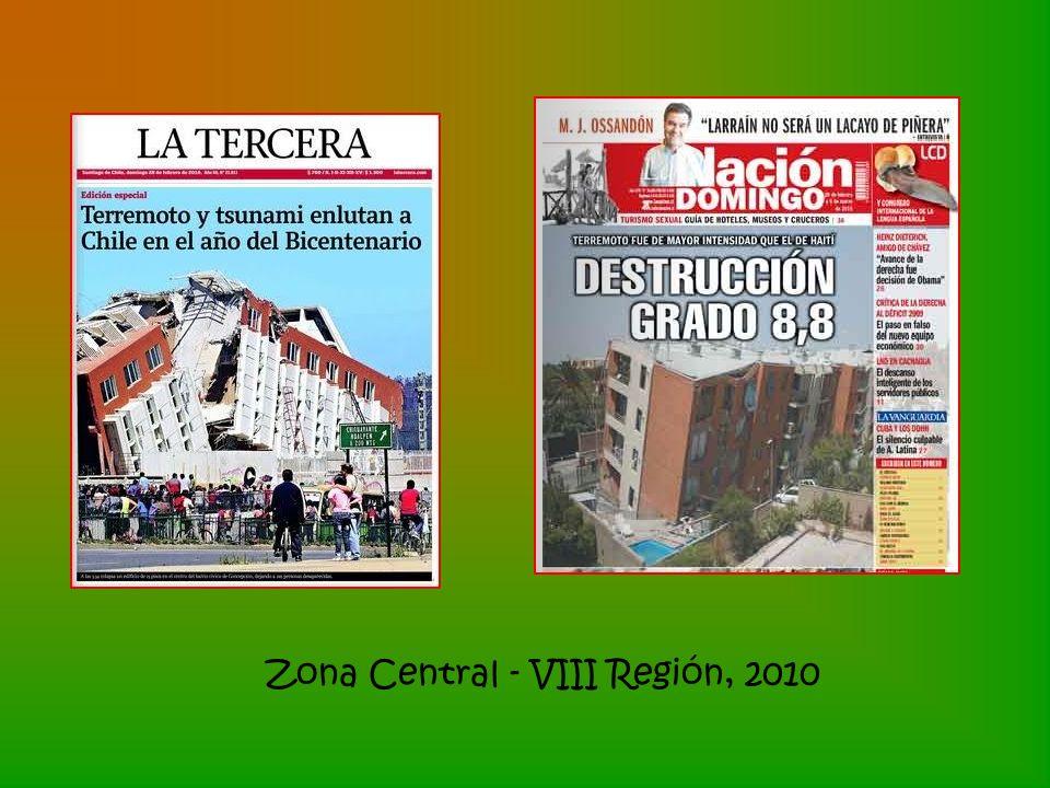 Zona Central - VIII Región, 2010