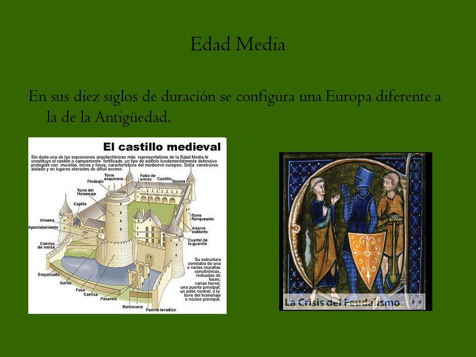 Edad Media En sus diez siglos de duración se configura una Europa diferente a la de la Antigüedad.