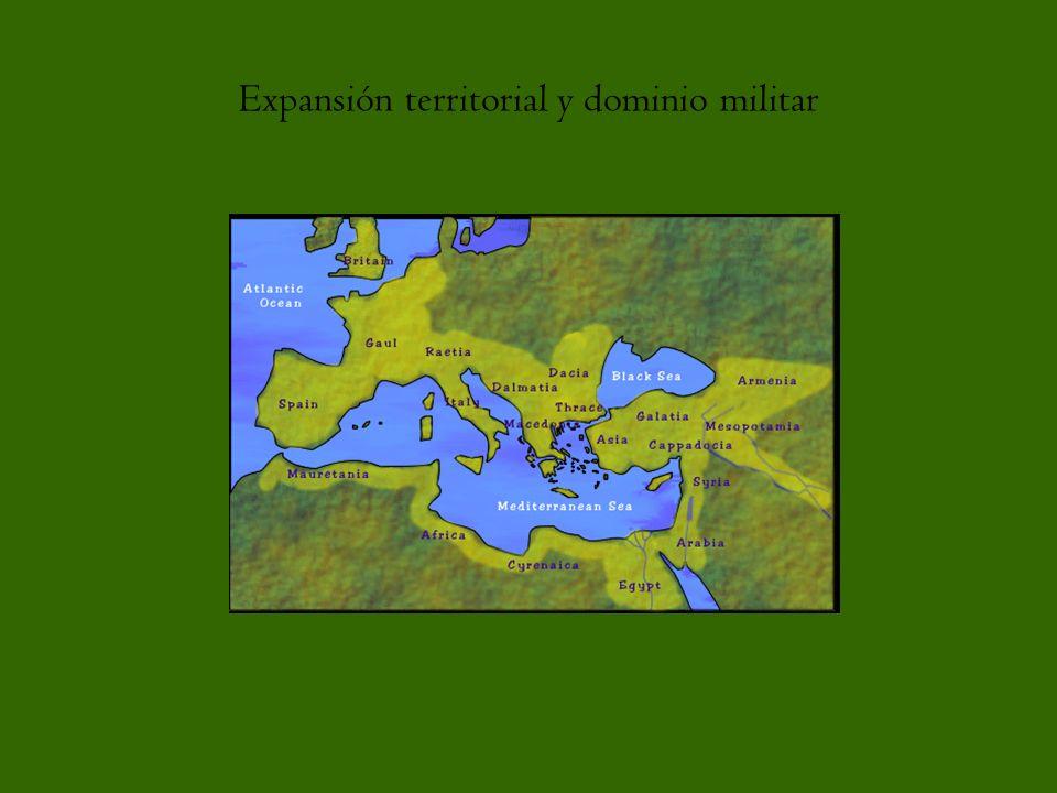 Expansión territorial y dominio militar