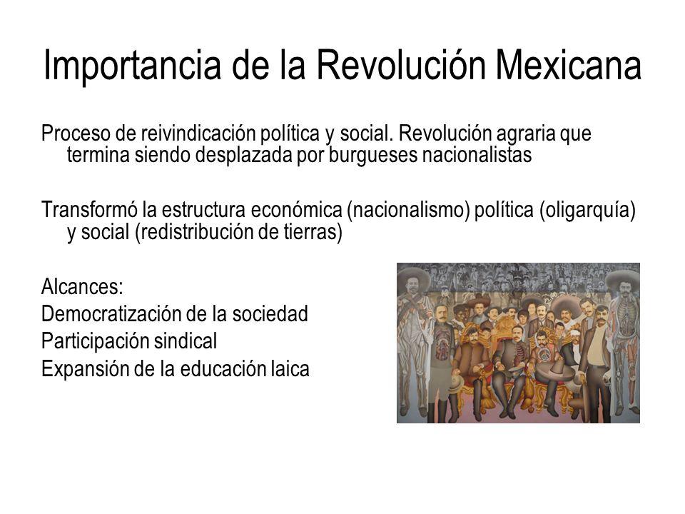 Importancia de la Revolución Mexicana