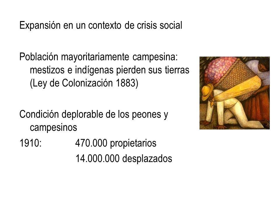 Expansión en un contexto de crisis social